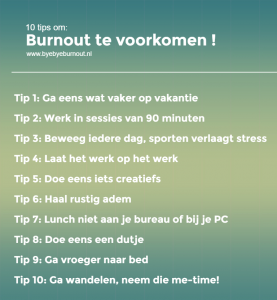 10 tips burnout