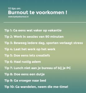 10 tips burnout