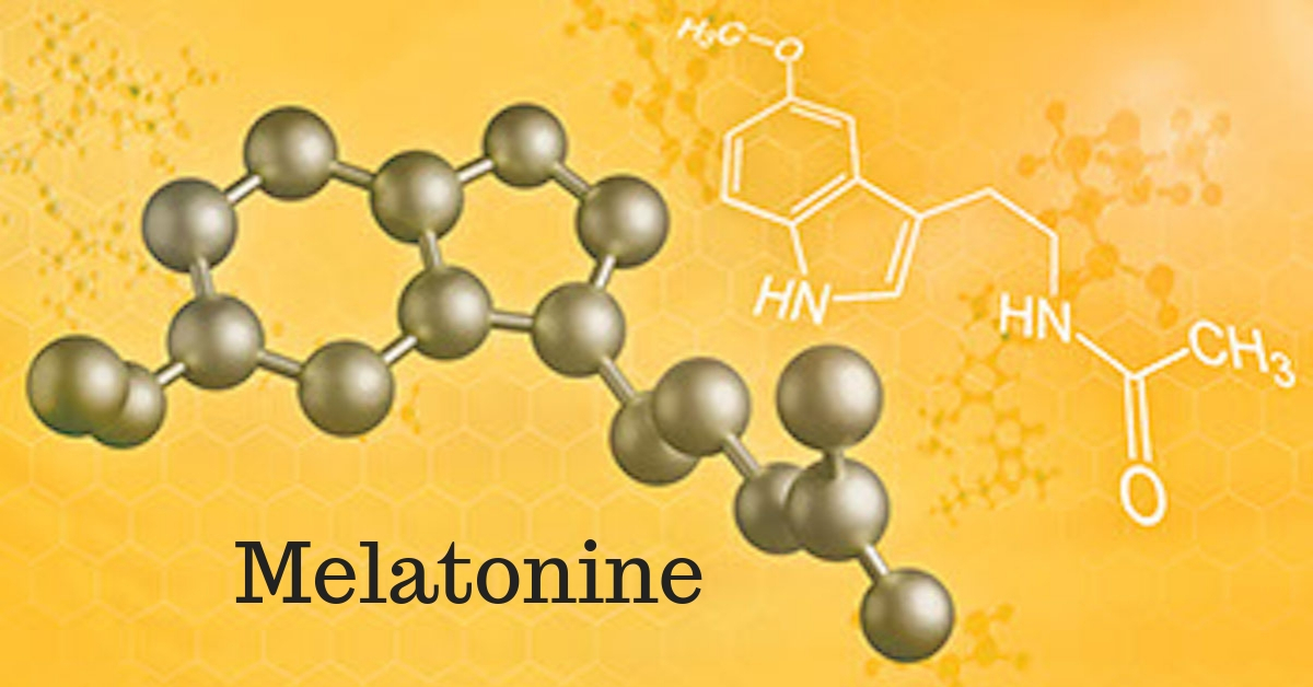 melatonine molecuul stof